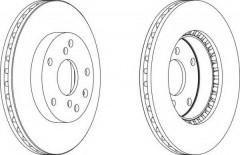 Комплект передних тормозных дисков FERODO DDF1192 (2 шт.)