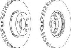 Комплект передних тормозных дисков FERODO DDF1202 (2 шт.)