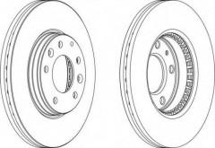 Комплект передних тормозных дисков FERODO DDF1210 (2 шт.)