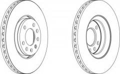 Комплект передних тормозных дисков FERODO DDF1215 (2 шт.)