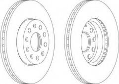 Комплект передних тормозных дисков FERODO DDF1218 (2 шт.)