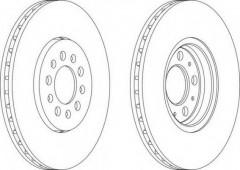 Комплект передних тормозных дисков FERODO DDF1221 (2 шт.)