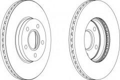 Комплект передних тормозных дисков FERODO DDF1222 (2 шт.)