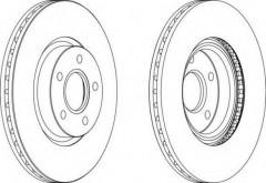 Комплект передних тормозных дисков FERODO DDF1225 (2 шт.)
