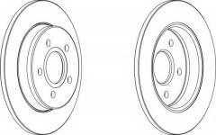 Комплект задних тормозных дисков FERODO DDF1226 (2 шт.)