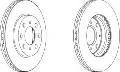Комплект передних тормозных дисков FERODO DDF1231 (2 шт.)