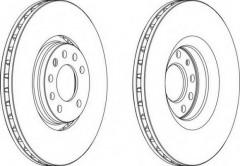 Комплект передних тормозных дисков FERODO DDF1237 (2 шт.)