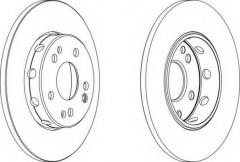 Комплект передних тормозных дисков FERODO DDF124 (2 шт.)