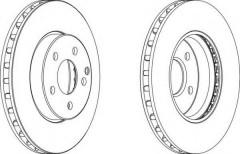 Комплект передних тормозных дисков FERODO DDF1252 (2 шт.)