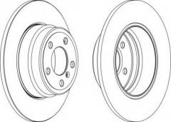 Комплект задних тормозных дисков FERODO DDF1255 (2 шт.)
