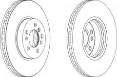 Комплект передних тормозных дисков FERODO DDF1256 (2 шт.)