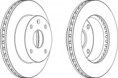 Фото 1 - Комплект передних тормозных дисков FERODO DDF1257 (2 шт.)