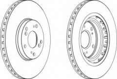 Комплект передних тормозных дисков FERODO DDF1266 (2 шт.)
