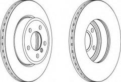 Комплект передних тормозных дисков FERODO DDF1271 (2 шт.)