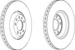 Комплект передних тормозных дисков FERODO DDF1274 (2 шт.)