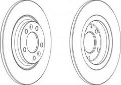 Комплект задних тормозных дисков FERODO DDF1275 (2 шт.)