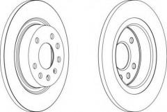Комплект задних тормозных дисков FERODO DDF1288 (2 шт.)