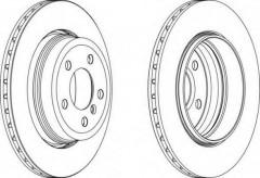 Комплект задних тормозных дисков FERODO DDF1297 (2 шт.)