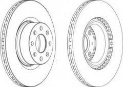 Комплект передних тормозных дисков FERODO DDF1298 (2 шт.)
