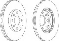 Комплект передних тормозных дисков FERODO DDF1304 (2 шт.)