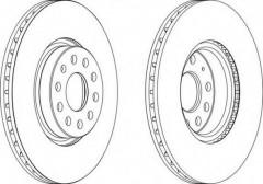 Комплект передних тормозных дисков FERODO DDF1305 (2 шт.)