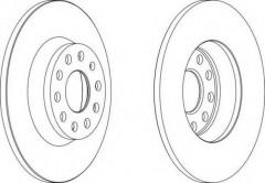 Комплект задних тормозных дисков FERODO DDF1306 (2 шт.)