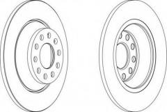 Комплект задних тормозных дисков FERODO DDF1307 (2 шт.)