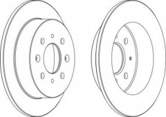 Комплект задних тормозных дисков FERODO DDF1358 (2 шт.)