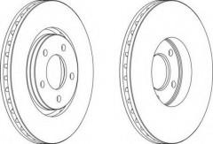 Комплект передних тормозных дисков FERODO DDF1372 (2 шт.)