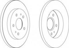 Комплект передних тормозных дисков FERODO DDF1387 (2 шт.)