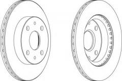 Комплект передних тормозных дисков FERODO DDF1394 (2 шт.)