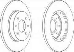 Комплект тормозных дисков FERODO DDF140 (2 шт.)
