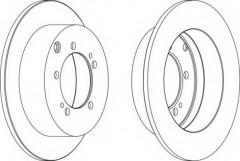 Комплект задних тормозных дисков FERODO DDF1410 (2 шт.)