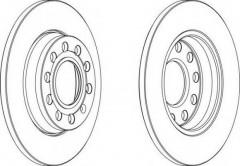 Комплект задних тормозных дисков FERODO DDF1425 (2 шт.)