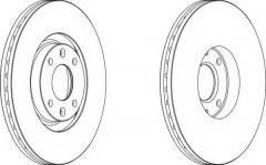 Комплект передних тормозных дисков FERODO DDF1442 (2 шт.)