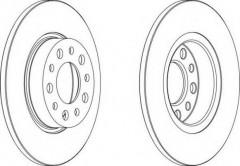Комплект задних тормозных дисков FERODO DDF1450 (2 шт.)