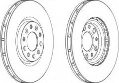 Комплект передних тормозных дисков FERODO DDF1451 (2 шт.)