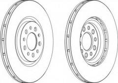 Комплект передних тормозных дисков FERODO DDF1453 (2 шт.)