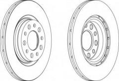 Комплект задних тормозных дисков FERODO DDF1454 (2 шт.)