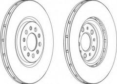 Комплект передних тормозных дисков FERODO DDF1455 (2 шт.)