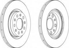 Комплект задних тормозных дисков FERODO DDF1456 (2 шт.)