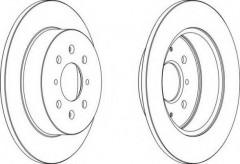 Комплект задних тормозных дисков FERODO DDF1466 (2 шт.)