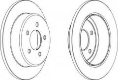 Комплект задних тормозных дисков FERODO DDF1492 (2 шт.)