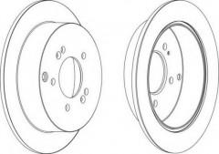 Комплект задних тормозных дисков FERODO DDF1493 (2 шт.)