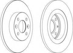 Комплект передних тормозных дисков FERODO DDF1502 (2 шт.)