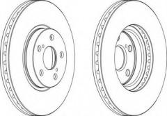 Комплект передних тормозных дисков FERODO DDF1508 (2 шт.)
