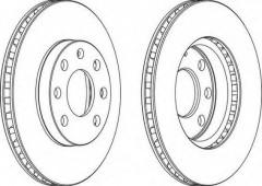 Комплект передних тормозных дисков FERODO DDF151 (2 шт.)