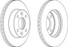 Комплект передних тормозных дисков FERODO DDF1521 (2 шт.)