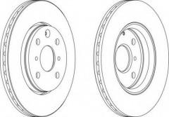 Комплект передних тормозных дисков FERODO DDF1527 (2 шт.)