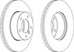 Комплект передних тормозных дисков FERODO DDF1536 (2 шт.)